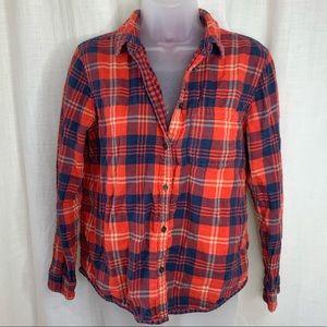 Madewell Plaid Button Down Flannel Shirt!